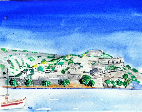 Spinalonga painting 001